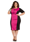 Color Block Ponte Sheath Dress
