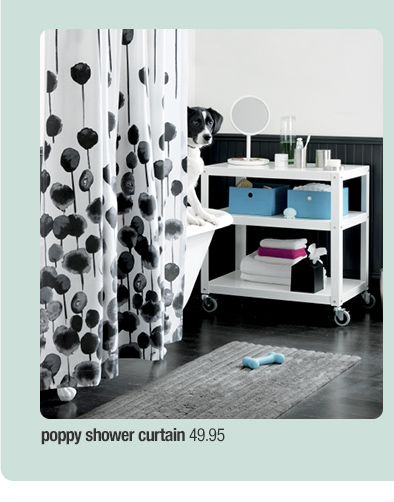 poppy shower curtain 49.95
