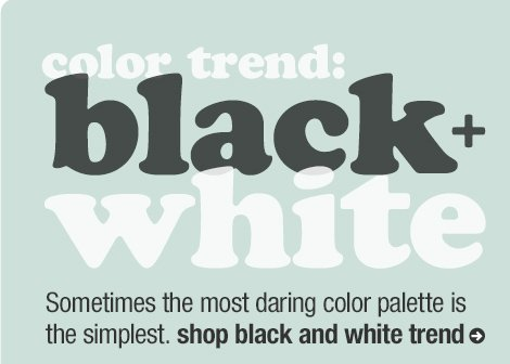 color trend: black + white