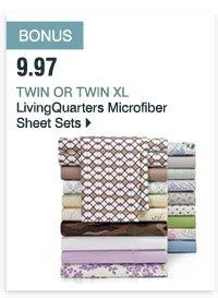 BONUS 9.97 Twin or TwinXL  LivingQuarters Microfiber Sheet Sets
