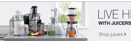 Live healthy with juicers and blenders. Shop juicers Shop blenders