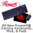 All-New Rosewill Gaming Keyboards, Mice & Pads.