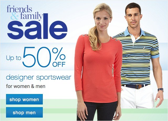 Up to 50% off designer sportswear