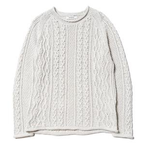 nonnative Sailor Sweater - C/L Mix Woven White