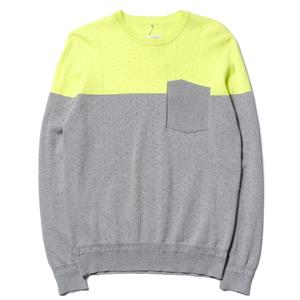 Over All MasterCloth Egypt Cotton/Cashmere Purl Crewneck