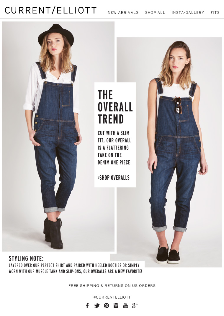 THE OVERALL TREND CUT WITH A SLIM FIT, OUR RANCH HAND OVERALL IS A FLATTERING TAKE ON THE DENIM ONE PIECE >SHOP OVERALLS