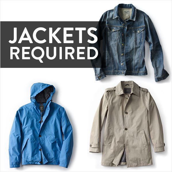 JACKETS REQUIRED