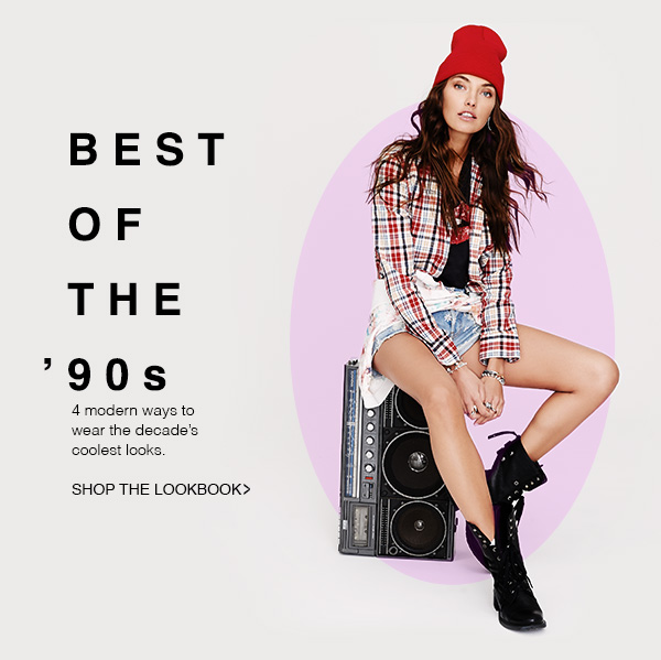 Find four modern ways to wear the greatest hits of '90s fashion in our latest lookbook. Shop Now!