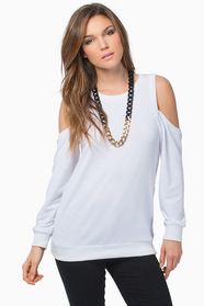 Crystal Cold Shoulder Sweater 44