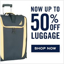 Now Up To 50% Off Luggage!