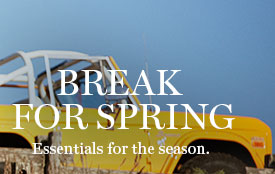 BREAK FOR SPRING | Essentials for the season.
