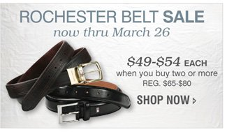 ROCHESTER 2-FOR BELTS