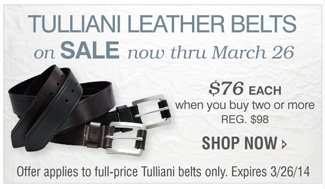 TULIANI 2-FOR BELTS