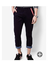 Slimfit Chino With Contrast Turn Up SGD 39.90