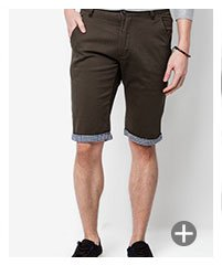 Short Chino With Contrast Turn Up SGD 29.90
