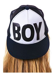 boy-london-boy-flat-bill-cotton-trucker-cap