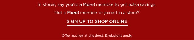 Sign Up To Shop Online
