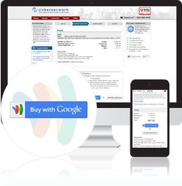 Click the Buy with Google Button on TicketNetwork.com