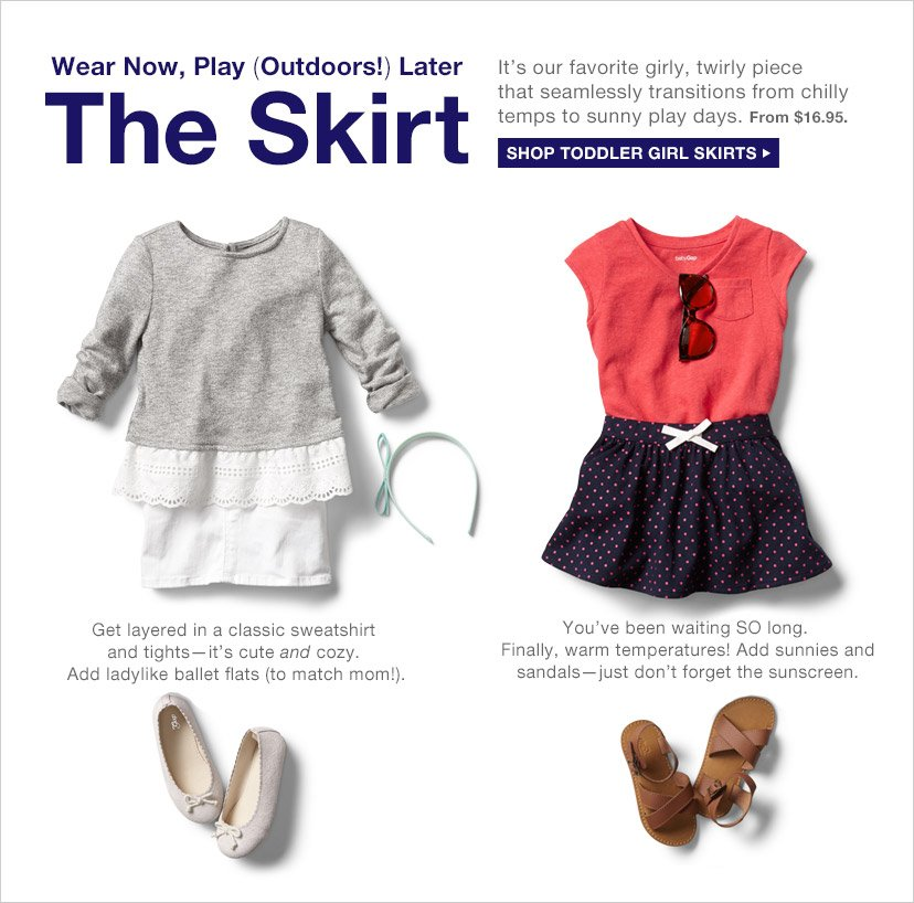 Wear Now, Play (Outdoors!) Later | The Skirt | SHOP TODDLER GIRL SKIRTS