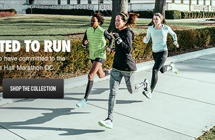 COMMITTED TO RUN | SHOP THE COLLECTION