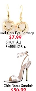 >Round Cats Eye Earrings $7.99
