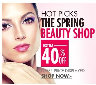 HOT PICS THE SPRING BEAUTYS SHOP OFFER PRICE DISPLAY SHOP NOW