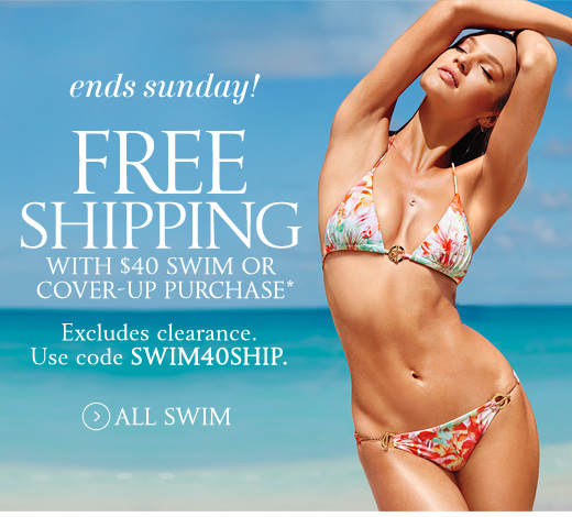 Ends Sunday! Free Shipping With $40 Swim Or Cover-Up Purchase