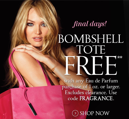 Final Days! Bombshell Tote Free with Eau de Parfum Purchase of 1 Oz or Larger