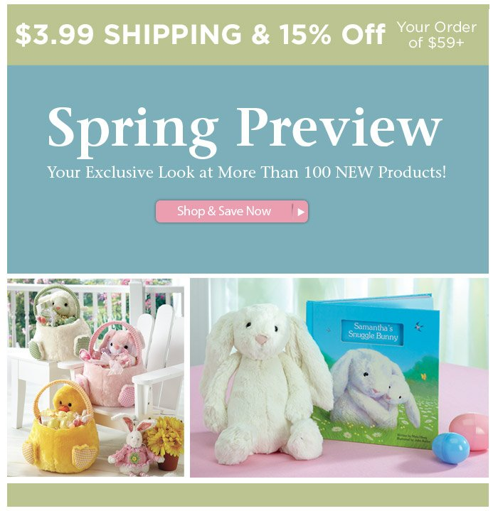 Your Exclusive Easter Items Preview • $3.99 Shipping • 15% Off