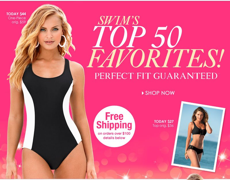 TOP 50 Swim Favorites! What's Your Pick? SHOP NOW!