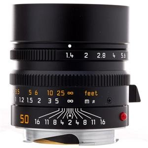 Leica 50mm f/1.4 SUMMILUX-M Aspherical -Black - Standard Manual Focus Lens for M System - USA