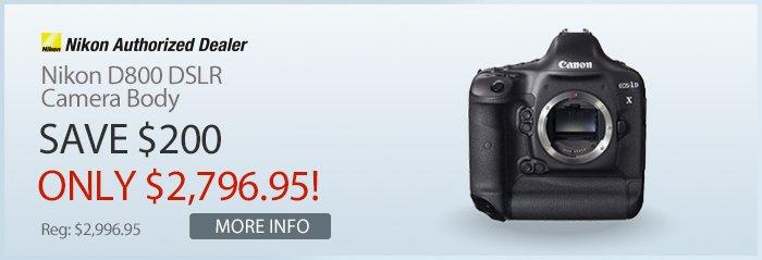 Adorama - Nikon D800 DSLR