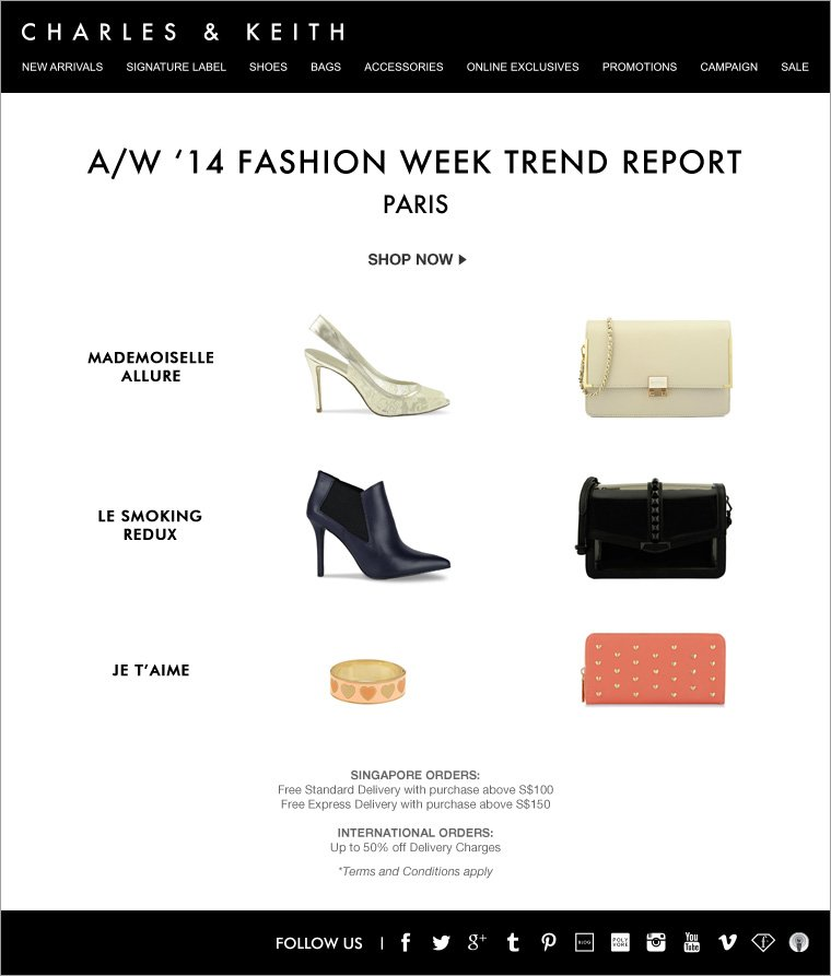 CHARLES & KEITH - PFW Trend Report - Shoes and Bags