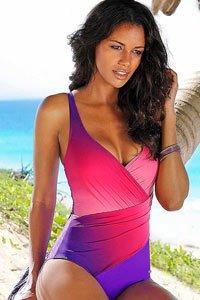 LASCANA Purple Wrap Effect Swimsuit £59