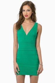 Gloria Low Cut Bodycon Dress $44