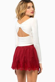 Back Bow Crop Top $23