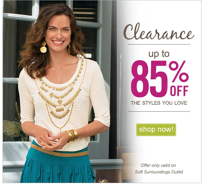 Clearance! Up to 85% off. Shop Now!
