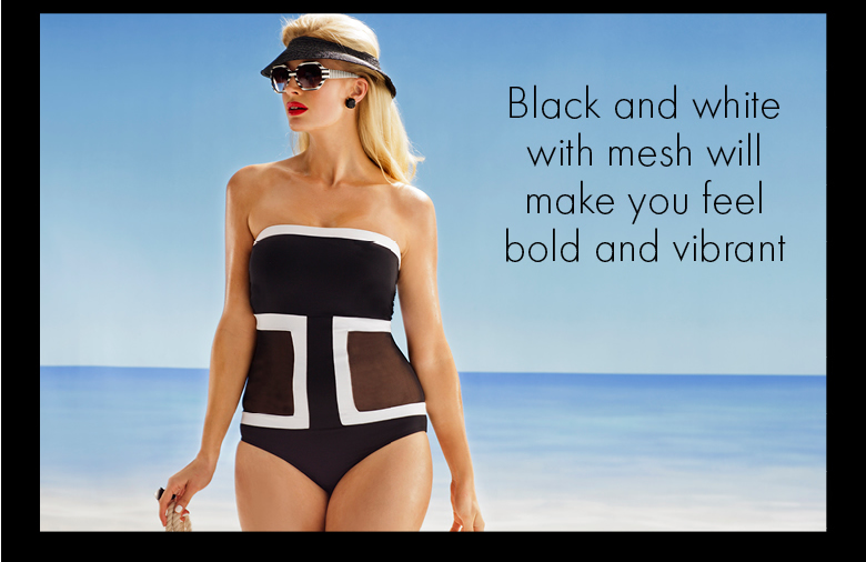 Black and White with mesh will make you feel bold and vibrant