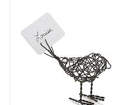 Wire Bird Placecard Holder