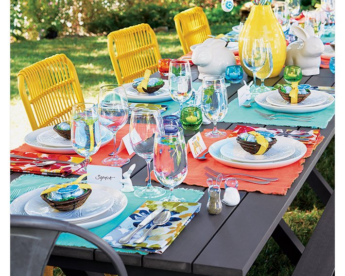 Crate and Barrel: 3 ways to set your Easter table. : Milled