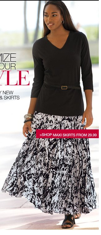 maximize your style - shop maxi skirts from 29.99