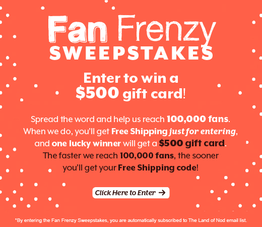 Enter our sweepstakes for Free Shipping and a chance at  $500!
