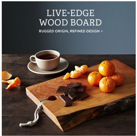 Live-Edge Wood Board