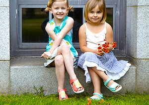 Kaleidoscope Kicks: Girls' Sandals