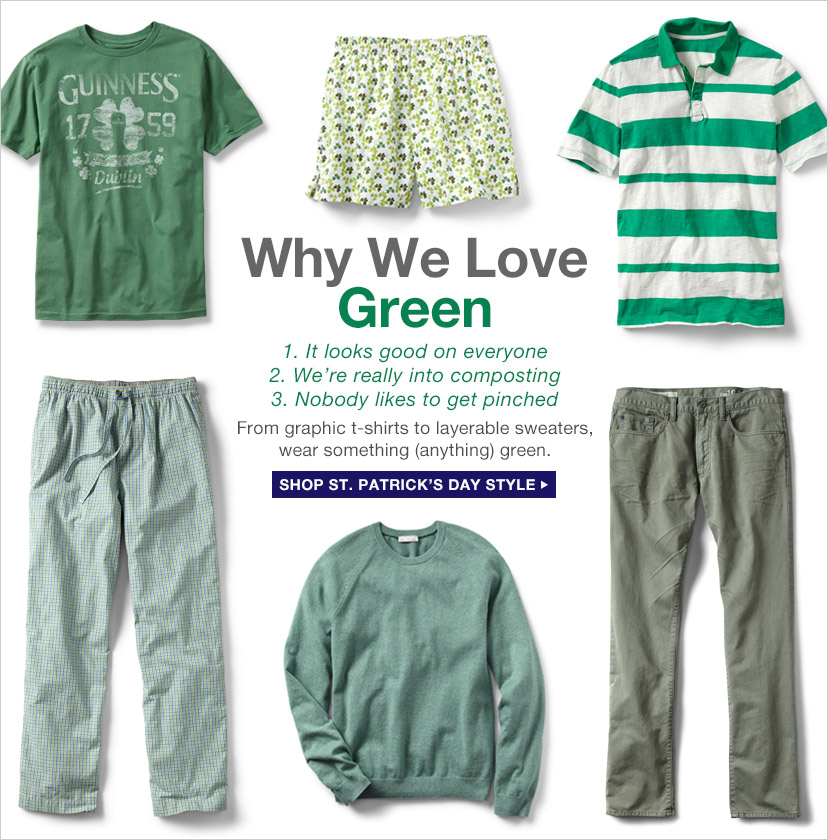 Why We Love Green | SHOP ST. PATRICK'S DAY STYLE