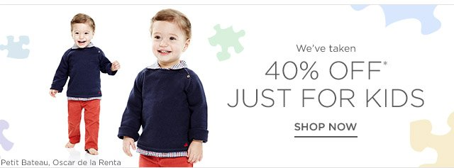 40% off Just for Kids