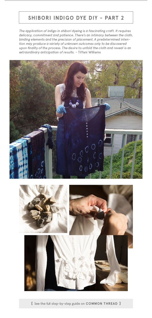 Shibori Indigo Dye DIY Part 2