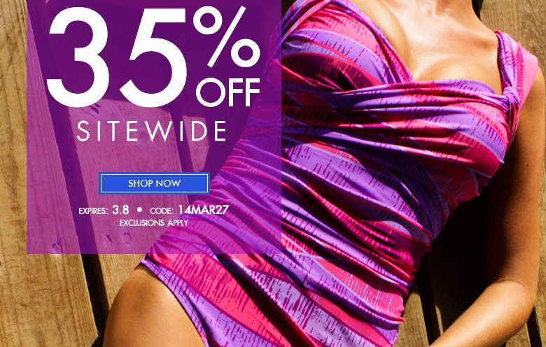 Take 35% OFF Sitewide - use code: 14MAR27 - Shop Now
