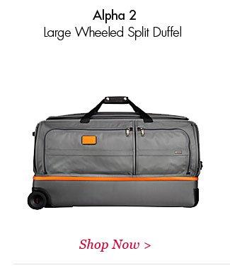 Alpha 2 Large Wheeled Split Duffel   Shop Now