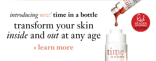 introducing new! time in a bottle transform your skin inside and out at any age